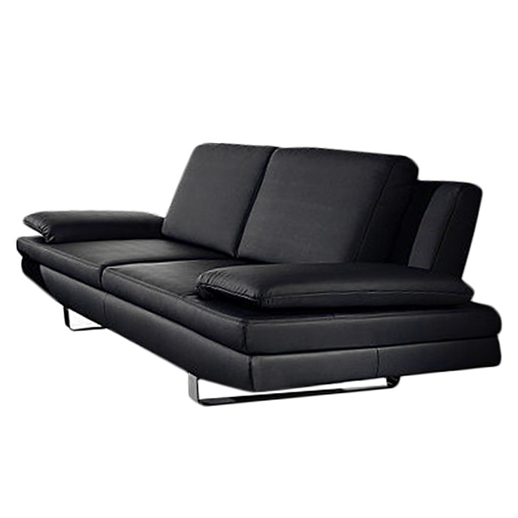 sofa yovanna 3 sitzer kunstleder schwarz home24. Black Bedroom Furniture Sets. Home Design Ideas
