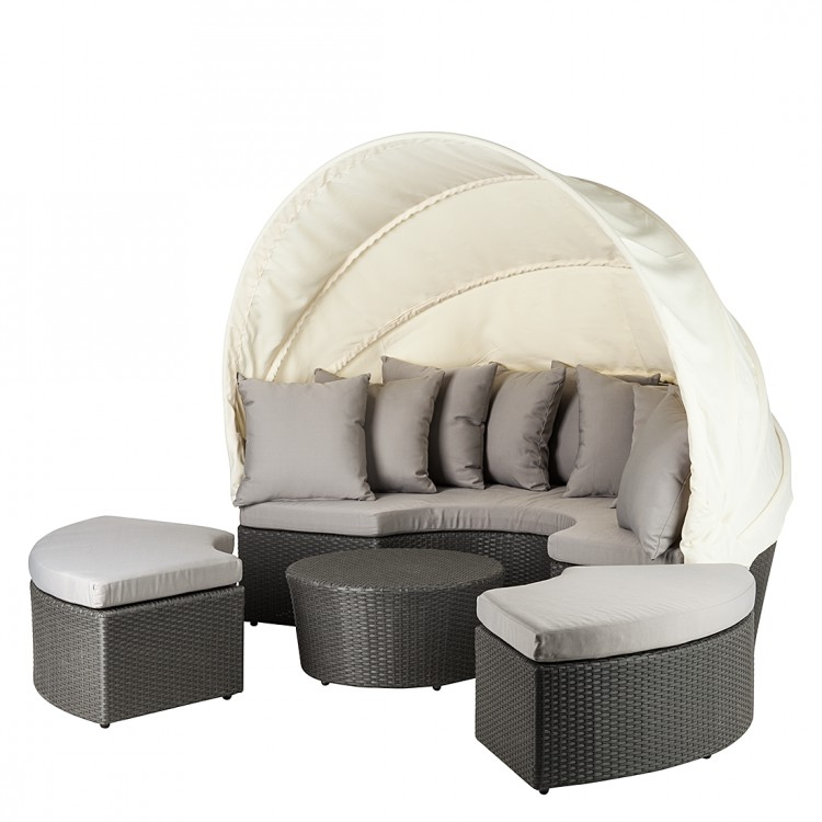 sonneninsel 4 tlg verschiedene farben gartenm bel set sitzgruppe strandkorb neu ebay. Black Bedroom Furniture Sets. Home Design Ideas