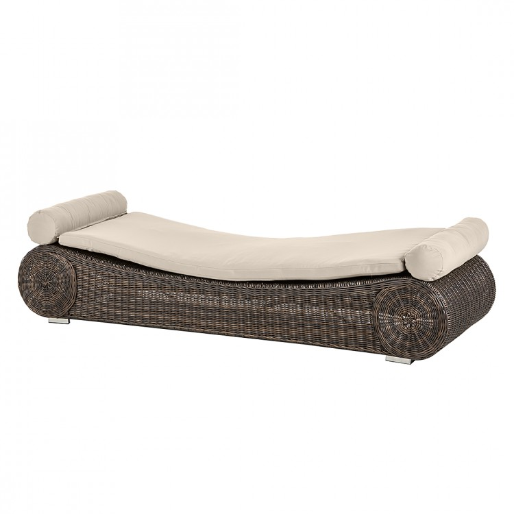 gartenliege rattanesco giobi polyrattan braun home24. Black Bedroom Furniture Sets. Home Design Ideas