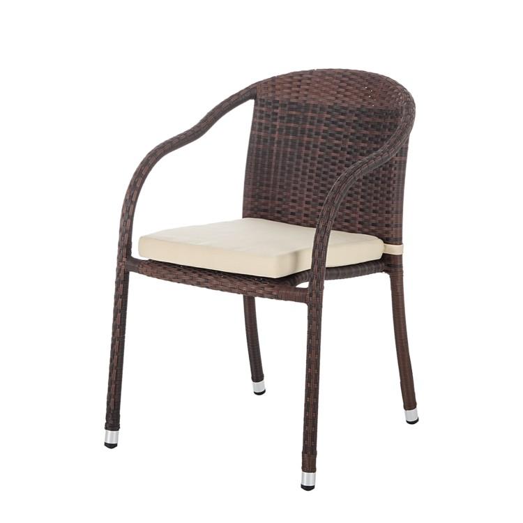 Gartenstuhl 4er-Set Polyrattan Braun Gartenstühle Stuhlset ...