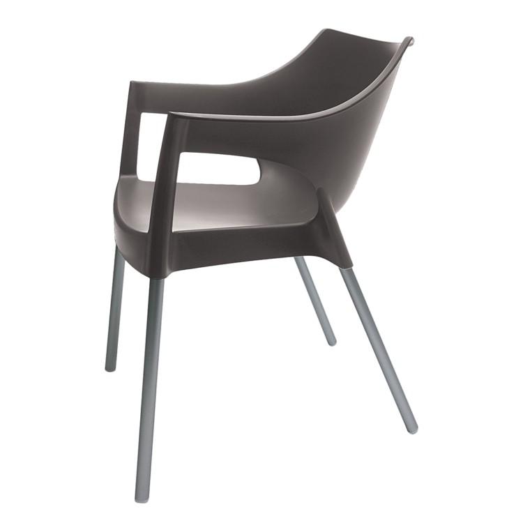 stapelstuhl pole 2er set schokolade chrom kaufen home24. Black Bedroom Furniture Sets. Home Design Ideas