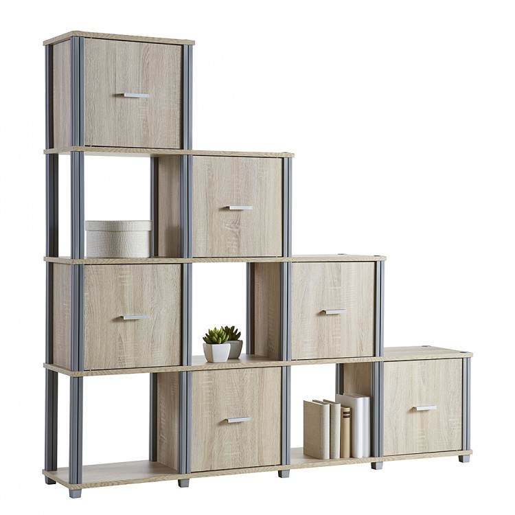 stufenregal berck eiche sonoma dekor home24. Black Bedroom Furniture Sets. Home Design Ideas
