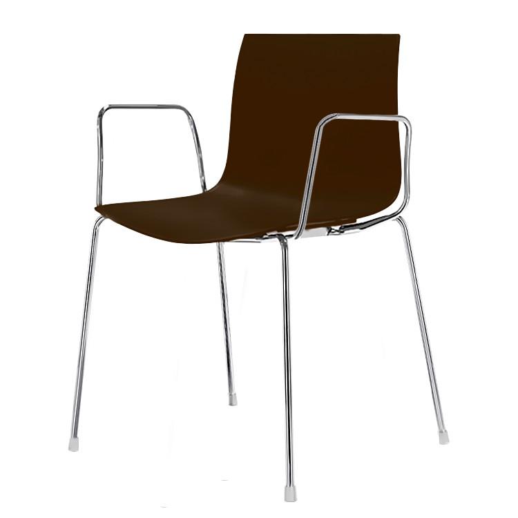 stuhl catifa 46 mit armlehnen in braun online kaufen home24. Black Bedroom Furniture Sets. Home Design Ideas