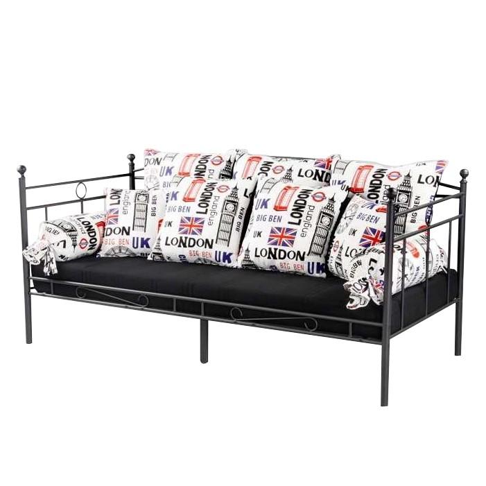 bett sunbury metall schwarz home24. Black Bedroom Furniture Sets. Home Design Ideas