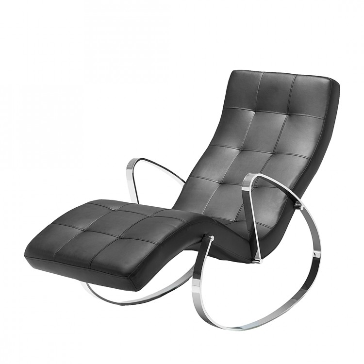 Chaise longue de relaxation tamia rev tement cuir - Chaise de relaxation ...