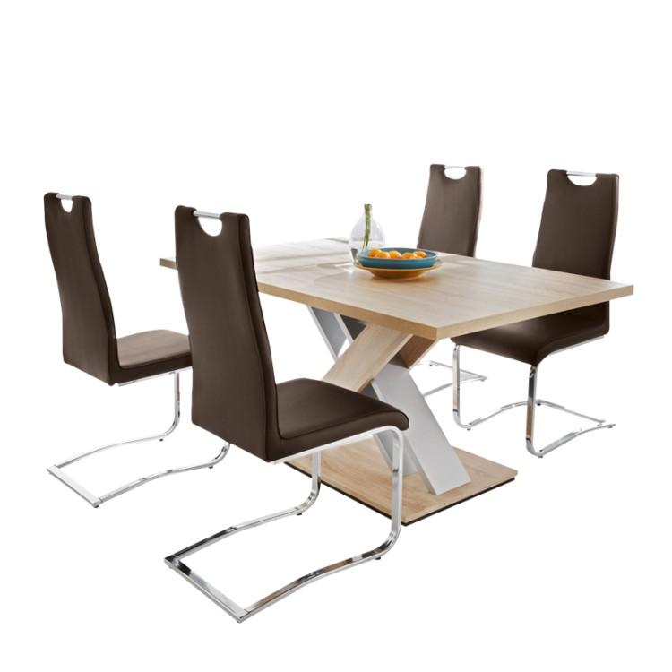 tischgruppe grande 5 teilig eiche s gerau dekor braun. Black Bedroom Furniture Sets. Home Design Ideas