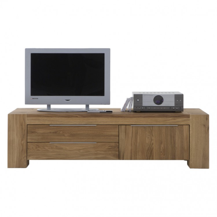 meuble tv san sebastian ch ne massif huil. Black Bedroom Furniture Sets. Home Design Ideas