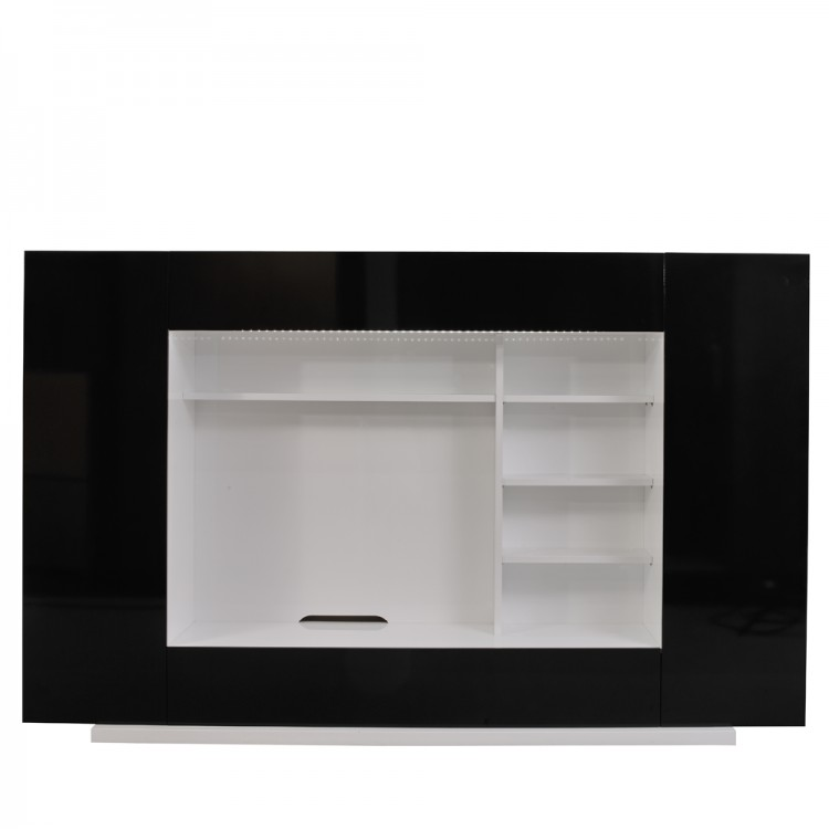 tv m bel oceano schwarz hochglanz wei home24. Black Bedroom Furniture Sets. Home Design Ideas