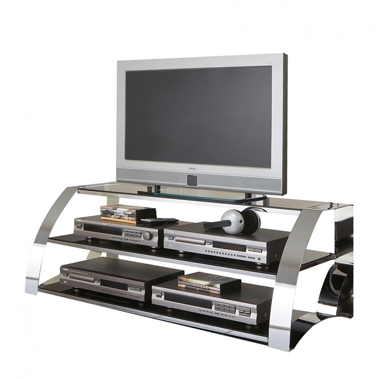 tv rack taurin metall glas home24. Black Bedroom Furniture Sets. Home Design Ideas