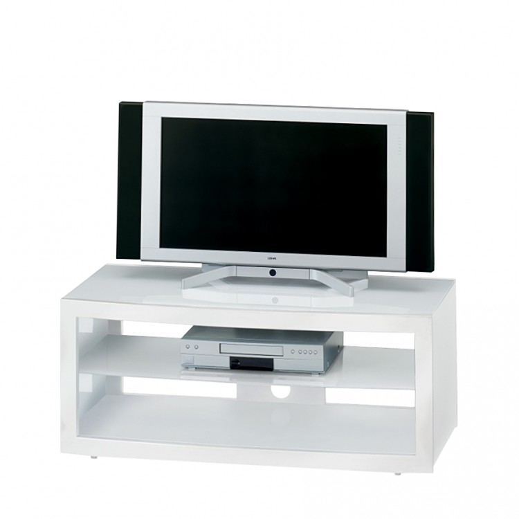 tv rack glas wei hochglanz fernsehtisch tisch unterschrank tv m bel board neu ebay. Black Bedroom Furniture Sets. Home Design Ideas