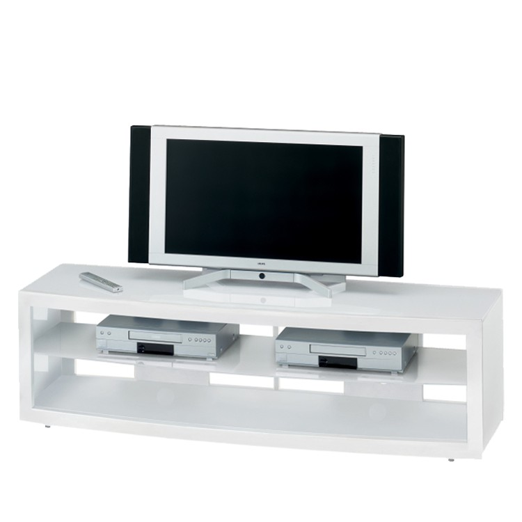 neu tv rack wei wei glas hochglanz fernsehtisch tisch schrank phono m bel media ebay. Black Bedroom Furniture Sets. Home Design Ideas