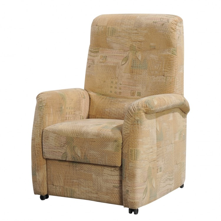 Tv sessel active textil beige gemustert home24 for Sessel verstellbar