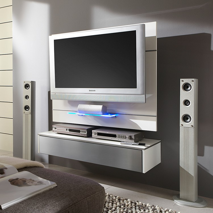 tv wand hover 3 inkl h ngemodul wei alu home24. Black Bedroom Furniture Sets. Home Design Ideas