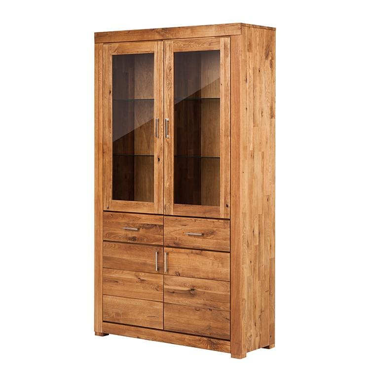 vitrine ancona wildeiche massiv home24. Black Bedroom Furniture Sets. Home Design Ideas