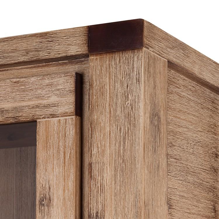 vitrine coast akazie massiv home24. Black Bedroom Furniture Sets. Home Design Ideas