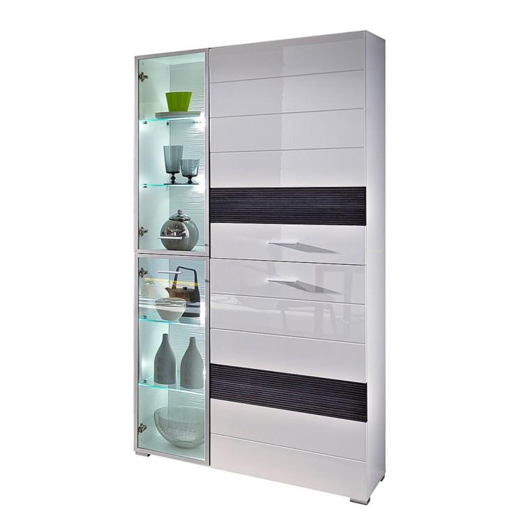vitrine evora wei wei hochglanz pinie touchwood home24. Black Bedroom Furniture Sets. Home Design Ideas