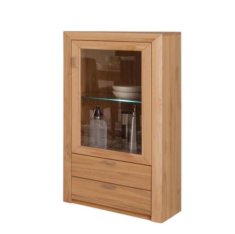 vitrinenschrank rose kernbuche teilmassiv glas home24. Black Bedroom Furniture Sets. Home Design Ideas