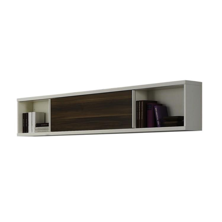 wandregal leon wei walnuss dekor home24. Black Bedroom Furniture Sets. Home Design Ideas