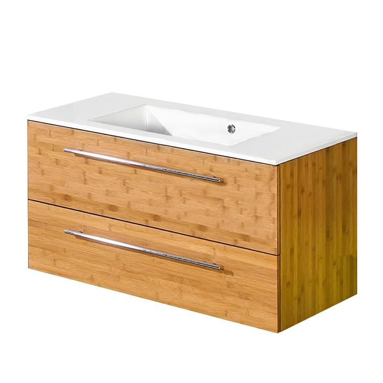 Waschtisch bern bambus natur lackiert home24 for Badmobel bambus