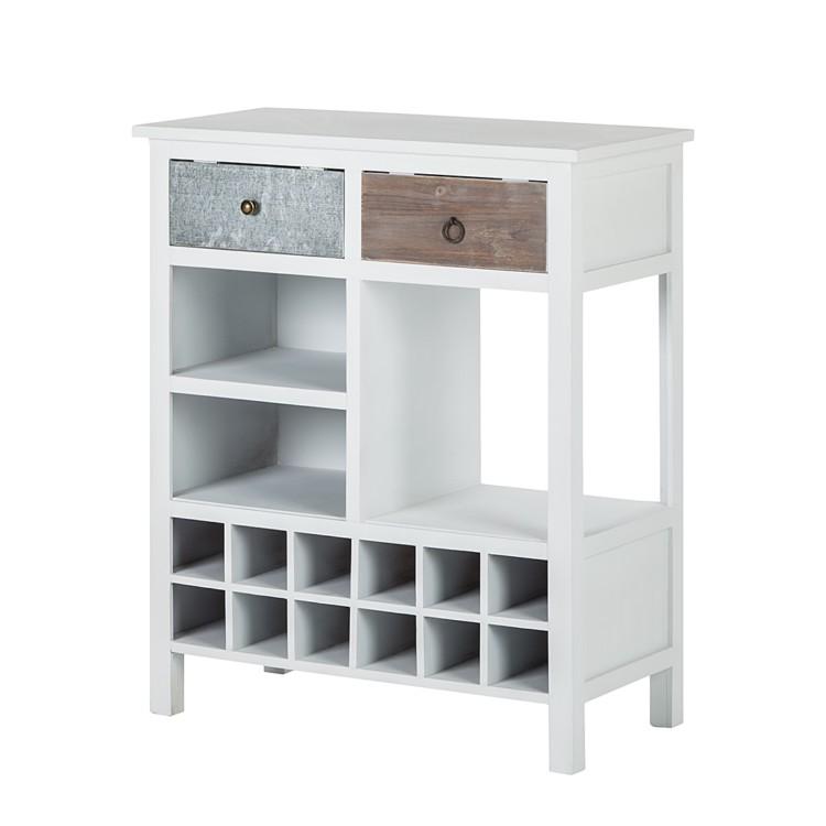 weinregal shabby 39 s chic 12 flaschenf chern online kaufen home24. Black Bedroom Furniture Sets. Home Design Ideas