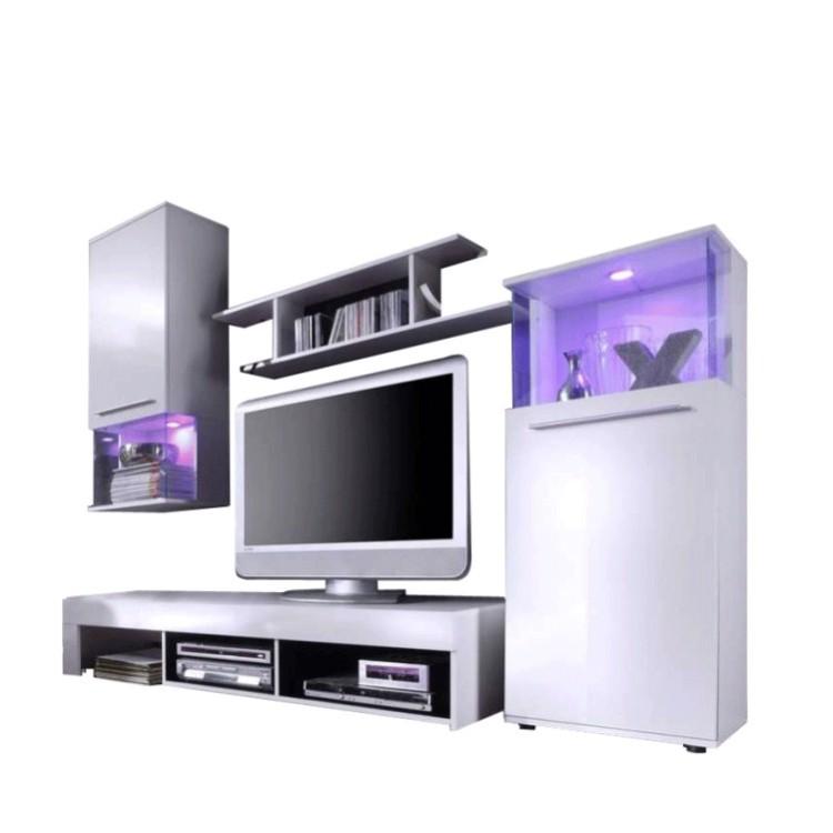 Combinaison meuble tv shine 4 pi ces for Meuble tv shine