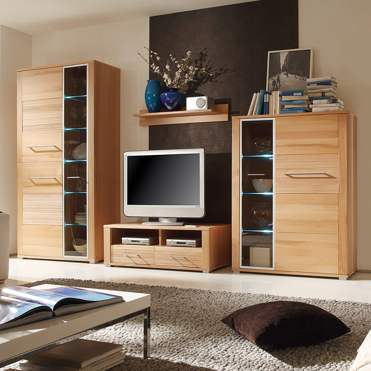 wohnwand topstar 4 teilig inkl beleuchtung home24. Black Bedroom Furniture Sets. Home Design Ideas