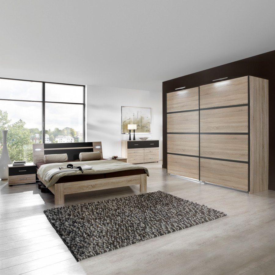 slaapkamerset vicenza 4 delige set grof gezaagd. Black Bedroom Furniture Sets. Home Design Ideas