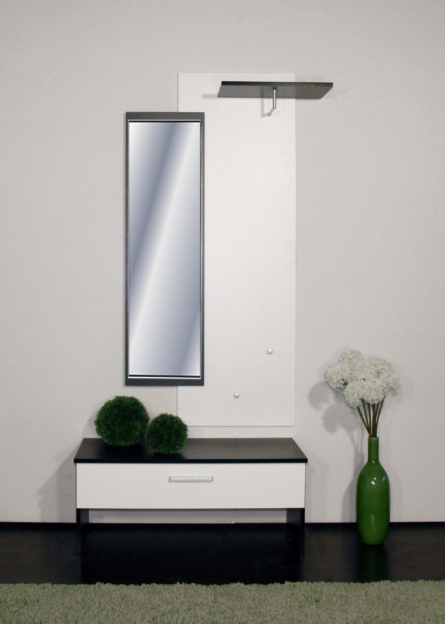 garderobe aidan perlwei perlschwarz home24. Black Bedroom Furniture Sets. Home Design Ideas