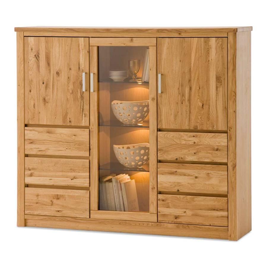 antonia highboard asteiche teilmassiv home24. Black Bedroom Furniture Sets. Home Design Ideas