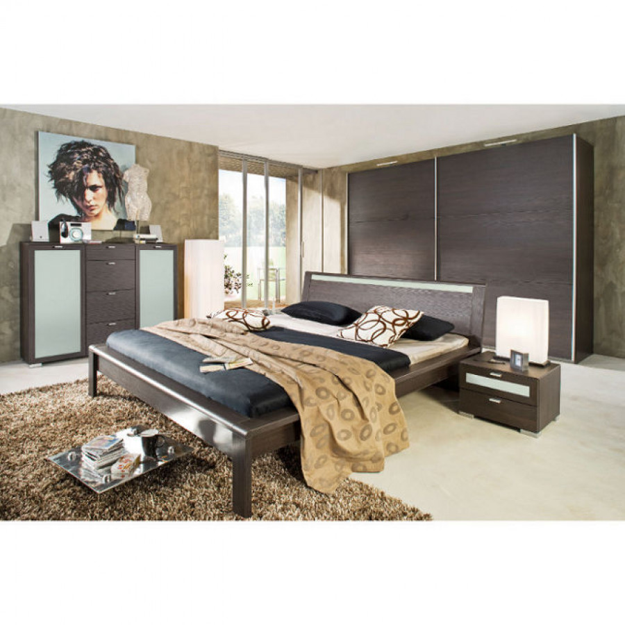 flash bett mooreiche home24. Black Bedroom Furniture Sets. Home Design Ideas