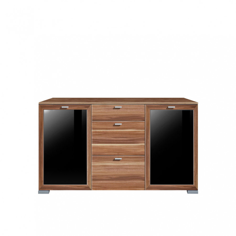 sideboard glas schwarz artownit for. Black Bedroom Furniture Sets. Home Design Ideas