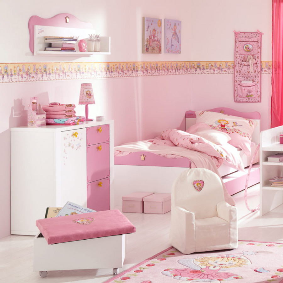 kinderkamerset prinses lillifee 3 delige set. Black Bedroom Furniture Sets. Home Design Ideas