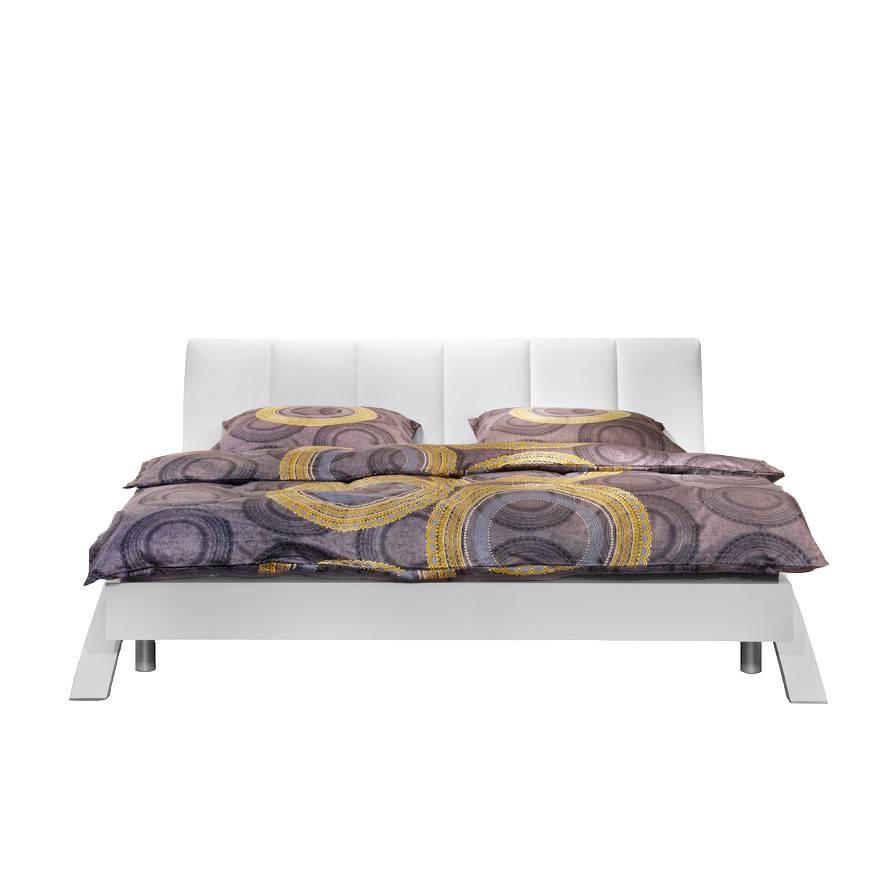 Bed swing wit gestoffeerd hoofdbord - Traditioneel hoofdbord ...