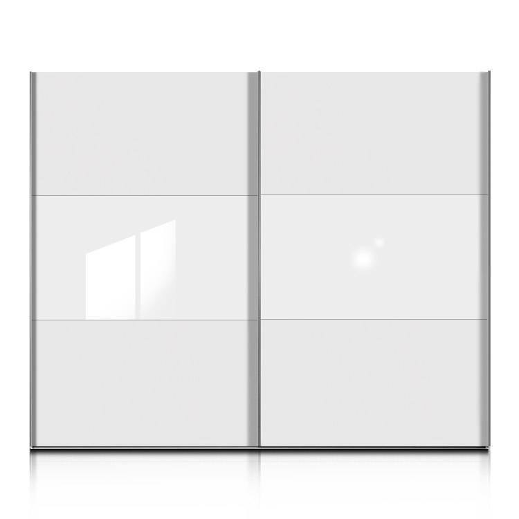 schwebet renschrank trio plus wei glas wei home24. Black Bedroom Furniture Sets. Home Design Ideas