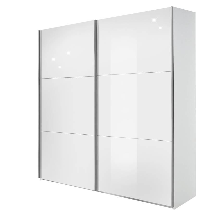 schwebet renschrank trio korpus wei glas wei home24. Black Bedroom Furniture Sets. Home Design Ideas