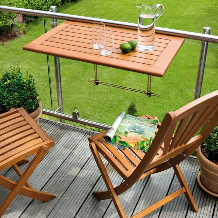 balkontafel minoa eucalyptushout geolied. Black Bedroom Furniture Sets. Home Design Ideas