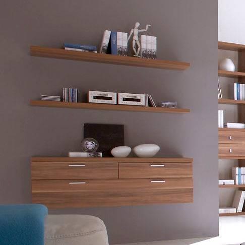 buffet suspendu empire plus noyer. Black Bedroom Furniture Sets. Home Design Ideas