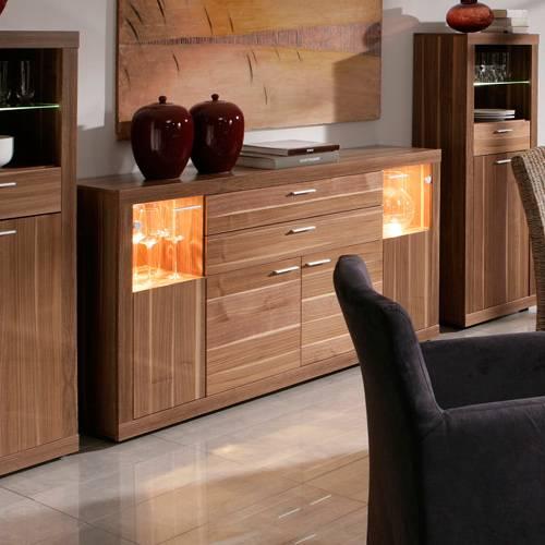 sideboard joy kernnuss furniert home24. Black Bedroom Furniture Sets. Home Design Ideas