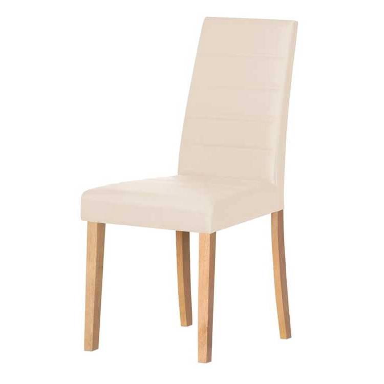 Chaise capitonn e markus lot de 2 bois marron clair - Chaise bois clair ...