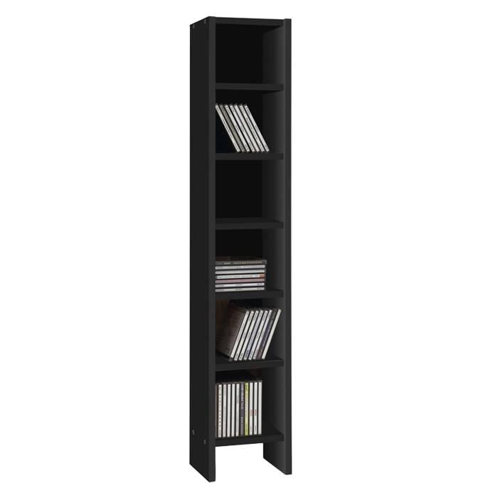cd dvd regal lierfeld schwarz home24. Black Bedroom Furniture Sets. Home Design Ideas