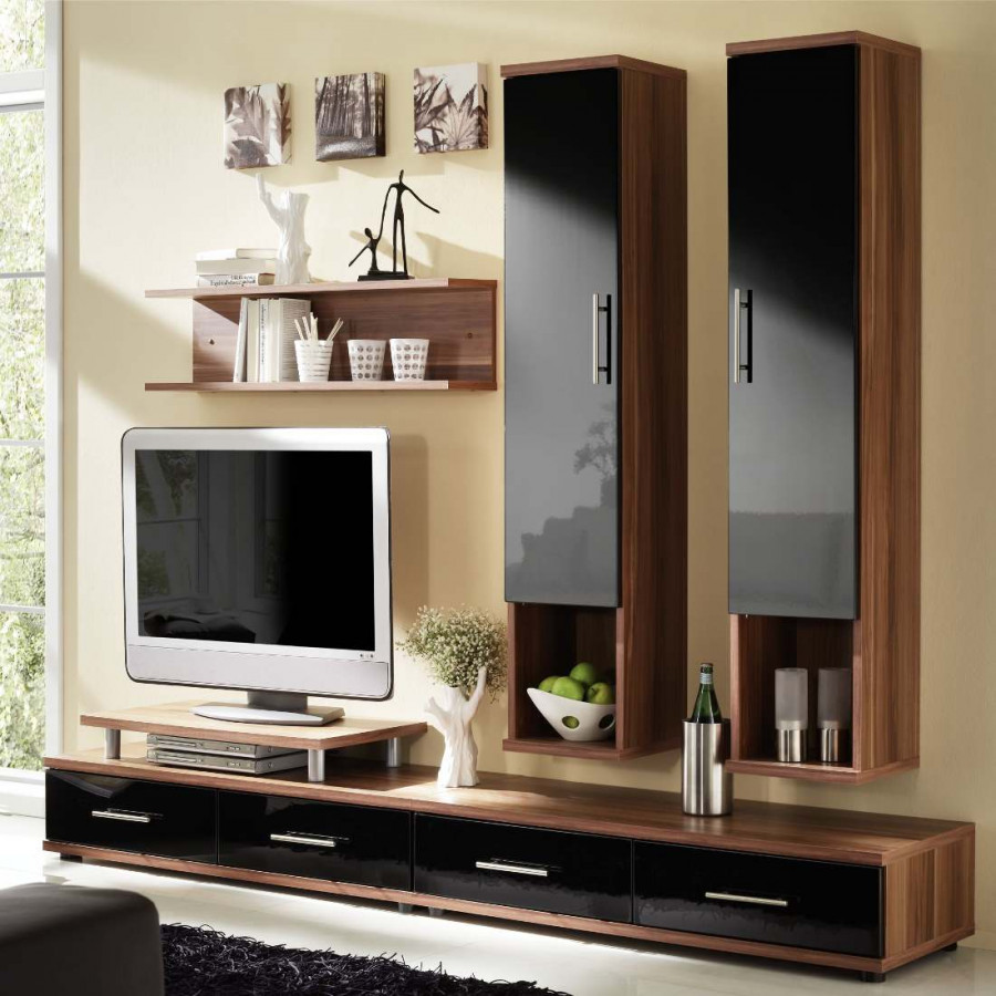 combinaison meuble tv metri couleur prune. Black Bedroom Furniture Sets. Home Design Ideas