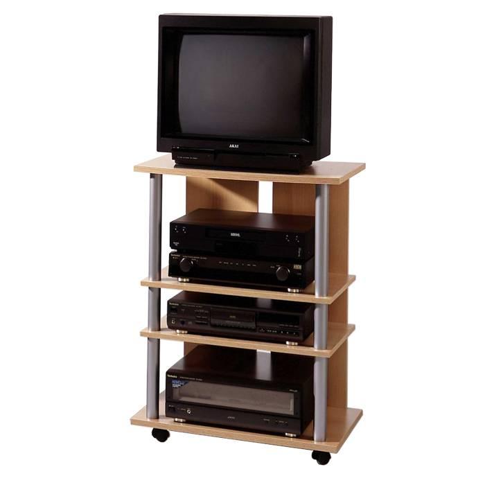 Meuble tv hifi strahlsund h tre for Meuble tv hetre