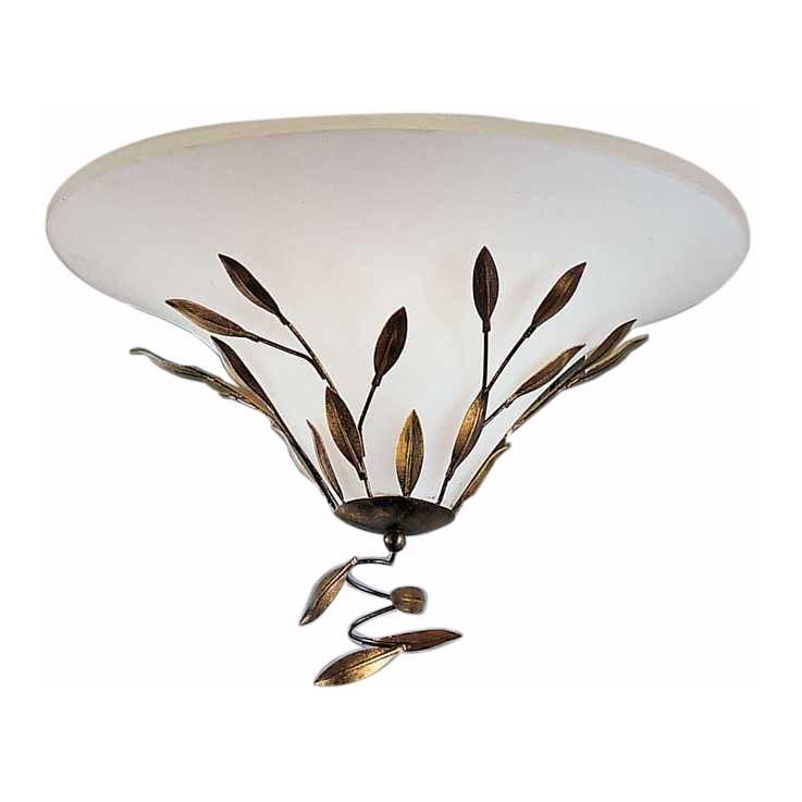 Deckenleuchte campana metall glas home24 for Deckenleuchte glas