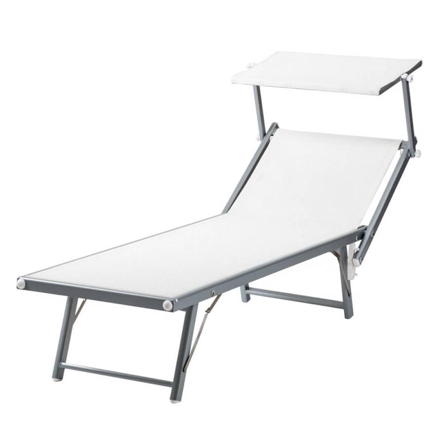 chaise longue capri coloris aluminium. Black Bedroom Furniture Sets. Home Design Ideas