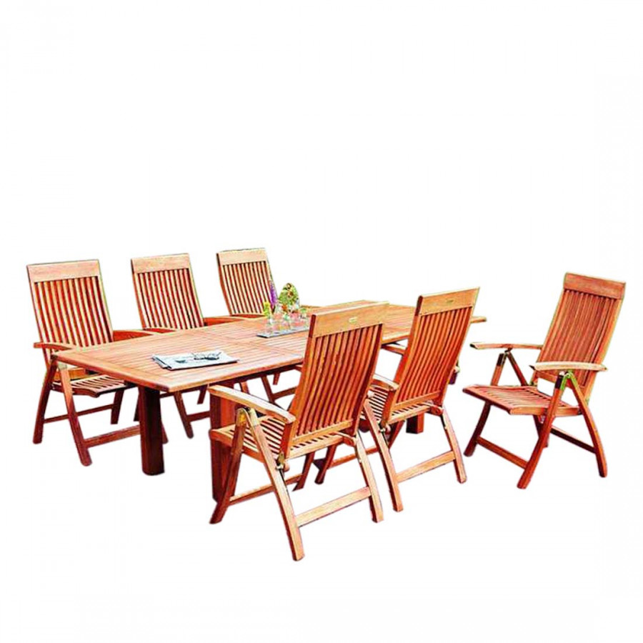 gartensitzgruppe comodoro 7 teilig eukalyptusholz. Black Bedroom Furniture Sets. Home Design Ideas