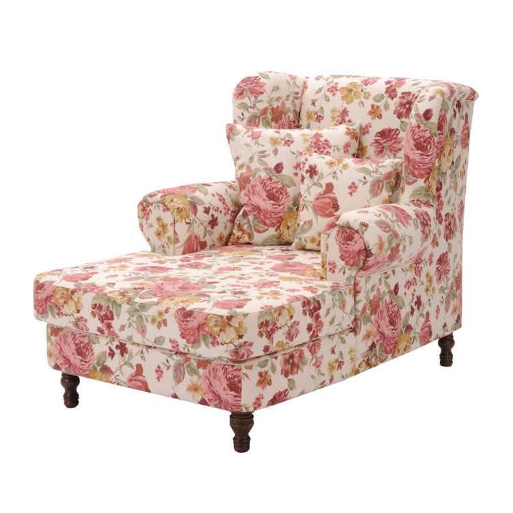 Fauteuil oreilles cornwall housse en tissu rose for Housse fauteuil a oreilles