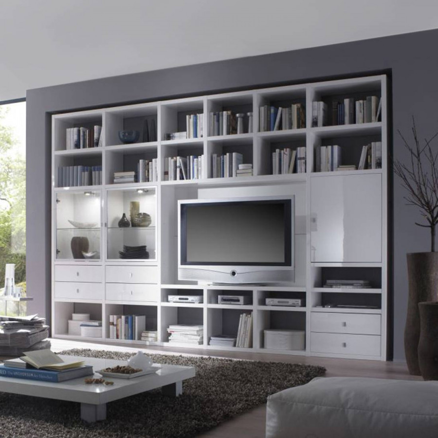 wohnwand weiss angebote auf waterige. Black Bedroom Furniture Sets. Home Design Ideas