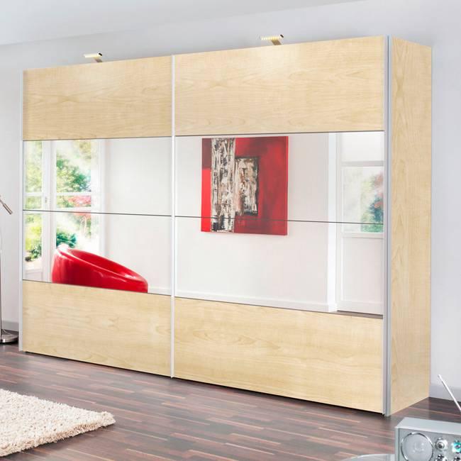 schwebet renschrank portiers ahorn dekor spiegel home24. Black Bedroom Furniture Sets. Home Design Ideas