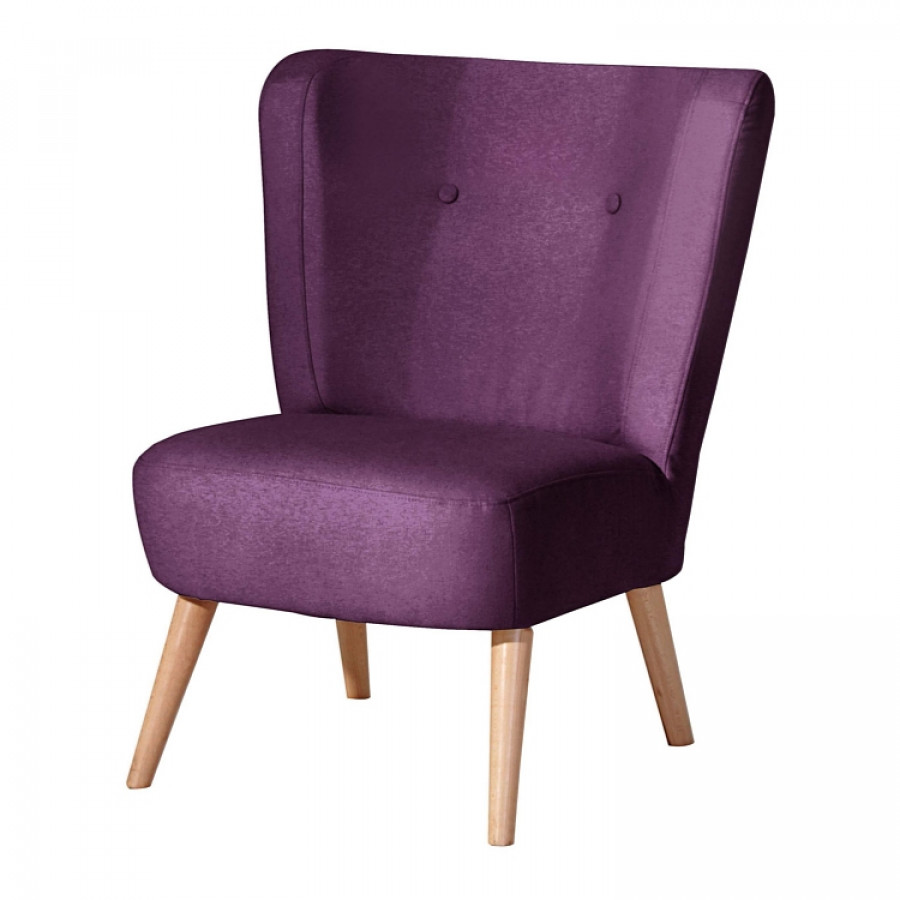Sessel fergie stoff lila home24 for Sessel home24