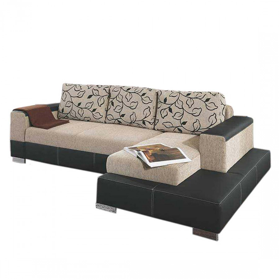 foggia polstergarnitur mit recamiere home24. Black Bedroom Furniture Sets. Home Design Ideas